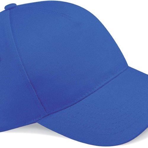 casquette brodée bleu roi