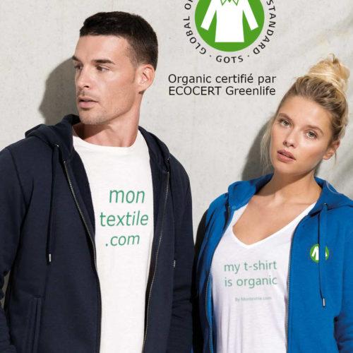 Sweatshirt coton bio personnalisé
